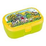 Lunchbox * BAUERNHOFTIERE * für Kinder von Lutz Mauder // Brotdose ohne Namensdruck // Perfekt für Mädchen & Jungen // Bauernhof Farm Vesperdose Brotzeitbox Brotzeit (ohne Namen)
