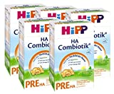 Hipp Pre HA Combiotik, Hypoallergene Anfangsmilch - von Geburt an, 5er Pack (5 x 500g)
