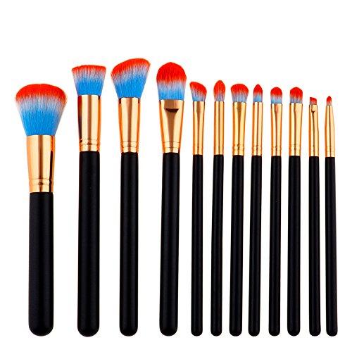 Saingace 12pcs Professionelles Make-Up Pinsel Set Foundation Puder Lidschatten Eyeliner Lip Brush...