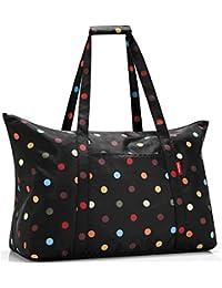 reisenthel mini-maxi sac de voyage - achats sac pliable - sac de voyage pliable - sac à provisions - motif noir avec des points colorés AG7009
