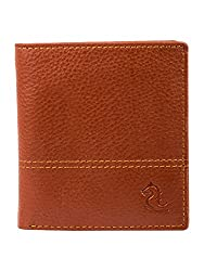 Kara Tan Color Genuine Leather Two Fold Wallet For Men