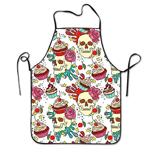 Adjustable Apron for Kitchen Garden Cooking Grilling Lady's Men's Great Gift for Wife Ladies Men Boyfriend ()