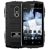 HOMTOM ZOJI Z6 3G Smartphone Ohne Vertrag (Outdoor Handy, IP68 Wasserdicht,  Android 6.0, 1GB Ram+8GB Rom, Dual-SIM Quad-Core, 4,7 Zoll Touch-Display, Dual Kamera, Fingerabdruck GPS ) - Schwarz