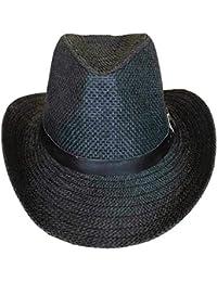 SYNC WITH STYLE Sombrero Vaquero De Paja Unisex para Hombres Y Mujeres 6244b14358e