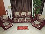 RSHP HEAVY JUTE COTTON RED/BLACK FLORAL 5 SEATER SLIPCOVER FOR YOUR DRAWING