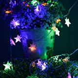 SHHE Star Battery Fairy String Lights 5M 40 LED Decorative Lighting for Home Wedding Birthday Indoor Outdoor Use(Colored)