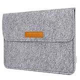 Inateck Tasche Schutzhülle Filz Laptop Hülle Kompatibel mit 10,5 Zoll /11 Zoll iPad Pro 2018/9,7 Zoll iPad Pro/New iPad 9,7/9,7 Zoll iPad Air Sleeve