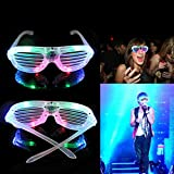 lzndeal Neu LED Schick Fensterladen Sonnenbrille Glow Light Brille