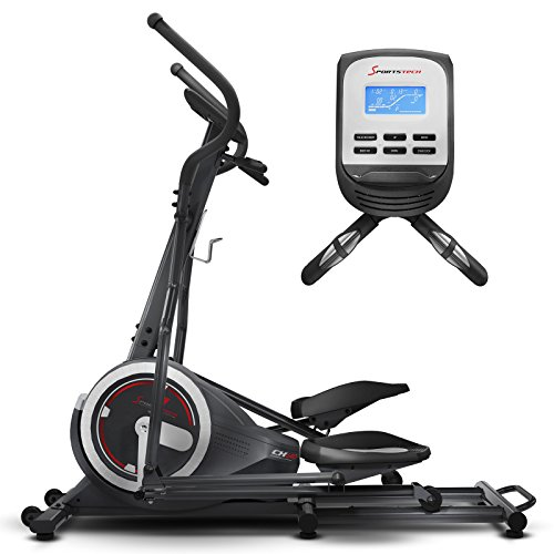 Sportstech CX640 Elliptical Crosstrainer Compatible with Smartphone App, 24kg Flywheel Mass, Street View, 26 Training programs incl. HRC Function, Hometrainer, Multifunctional Interface, Bottle Holder