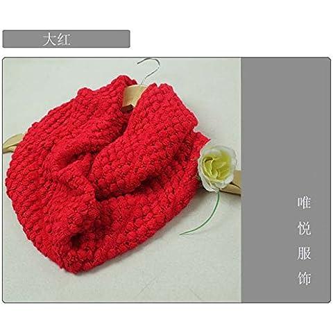 Los kernels MEICHEN-Bib Lady lana bufandas para otoño/invierno visten camisa cuellos,rojo