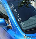 VW Star Herzschlag Frontscheibenaufkleber