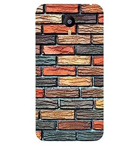 Casotec Brick Wall Design 3D Printed Hard Back Case Cover for YU Yunicorn