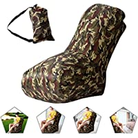 Air Stuhl, wasserdichtes aufblasbares Luftstuhl mit Tragebeutel für Camping und Strand, Aufblasbarer Sitzsack für die Benutzung im Freien oder zu Hause