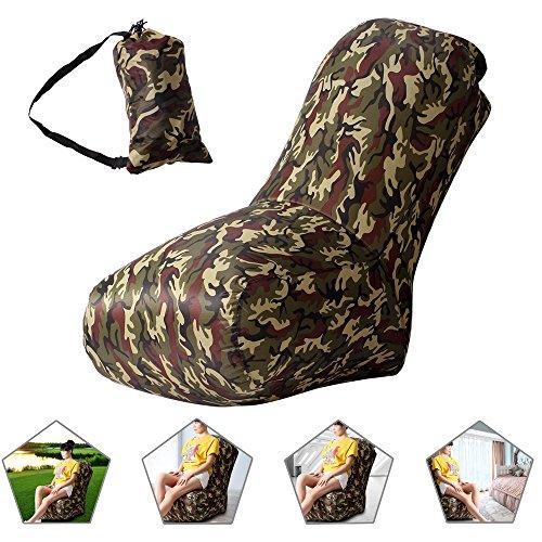 Air Stuhl, wasserdichtes aufblasbares Luftstuhl mit Tragebeutel für Camping und Strand,...