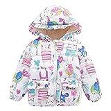 HUIHUI Kinder Baby Kleidung, Mantel Winter jacken Mädchen Jungen Herbst Softshell Kinderjacken mit Ohren (Weiß,4-5Jahre)