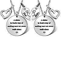 2 Stks Zuster Kettingen Zuster Geschenken Kerstmis Geschenken Verjaardagscadeaus Thanksgiving Geschenken