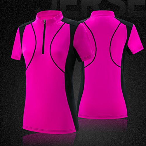 Zhhlinyuan Womens Quick-dry Breathable Sports T-Shirt Summer Short Sleeve Athletic Tops red