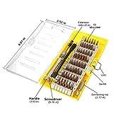 Magnetische Schraubendreher Set, MECO 60-in-1 mit 56 magnetischen Schraubendrehersatz Driver Kit, Präzisions Schraubenzieher Set, Reparaturset Tool für Elektronik/ XBOX/Smartphone/Tablet/PC/MacBook Gelb 60pcs