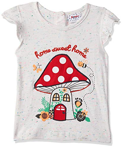 Donuts by Unlimited Baby Girls' Plain Regular Fit T-Shirt (400017548487_Ecru-Mel_18M)