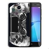 Stuff4 Gel TPU Hülle / Case für Huawei Y5 2017/Y5 3 / Weiß Tarnung Muster / Playstation PS4 Kollektion