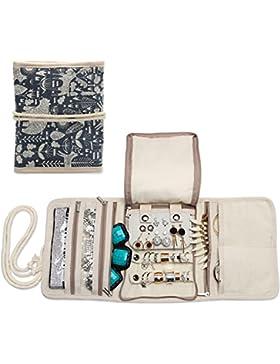 Teamoy Schmuckrollen, Schmucktasche für Ringe Ohrringe Halskette,schmuck, ketten, armreifen, halsketten und mehr...