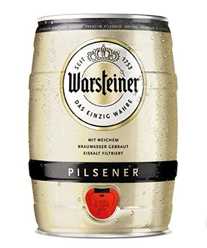 Warsteiner Pils (1 x 5 l) inklusive Zapfhahn