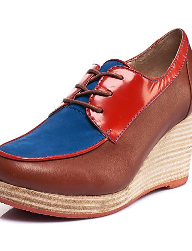 ZQ KISSCAT Da donna Di pelle Scarpe col tacco - ES33592-60SD , brown-us8 / eu39 / uk6 / cn39 , brown-us8 / eu39 / uk6 / cn39 brown-us6.5-7 / eu37 / uk4.5-5 / cn37