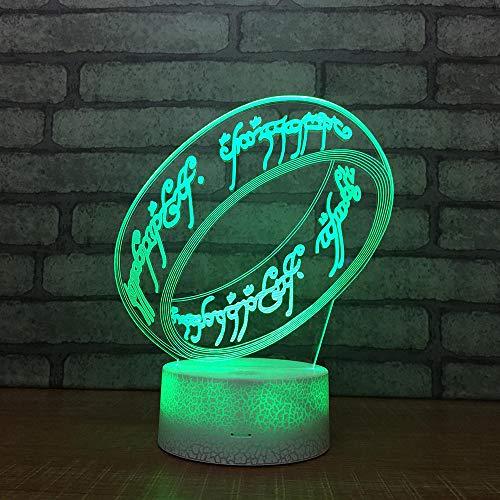 3D Optische Illusions-Lampen Armband 7 Farben Erstaunliche Optische Täuschung Die Schlafzimmer-Dekoration Für Kinder Weihnachten Halloween-Geburtstagsgeschenk Beleuchten