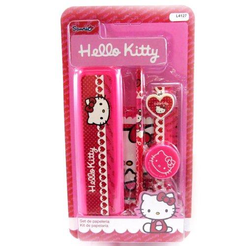 Hello Kitty [L4127] - Schul-set 'Hello Kitty' fuschia (6 - Kitty Hello Lineal-set