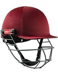 Grays Nicolls oficial Atomic Batsman cabeza protección cascos de seguridad de críquet, color granate, tamaño niños