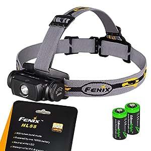 Fenix HL55 Cree XM-L2 T6 LED Blanc neutre 900 LM Lampe Frontale Phare + cadeau 1 x Mini USB 6 LED Veilleuse Lampe Nuit (variateur tactile)