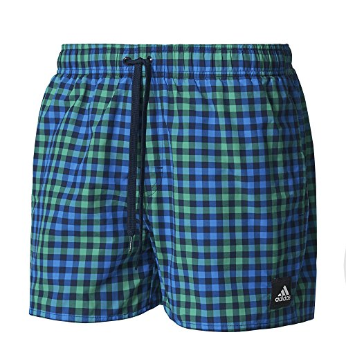 adidas Herren Checked Vsl Badeshorts Collegiate Navy/Core Green/Shock Blue