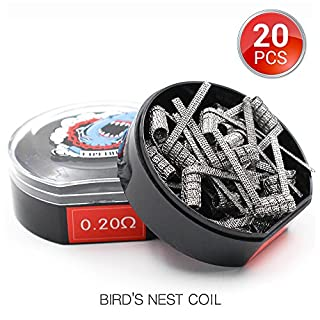 [Größere Spulen]20 Stück BIRD'S NEST Vorkompilierte Draht by Vapethink,Pre-built Coil Heating Wire, AWG(24GAx3) + (26GA+32GA), 0.2 ohm