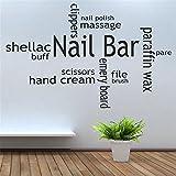 wandaufkleber baum eule Nagelschere Handcreme für Beauty Nail Salon