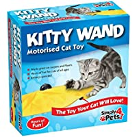 Simply 4 Pets Kitty Wand Motorised Undercover Yellow Skirt Cat Toy