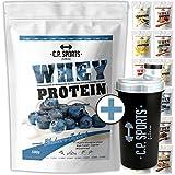 Whey Protein - 500g Beutel C.P. Sports, Eiweißpulver 11 geschmacksrichtungen Low Carb inkl. Shaker mit Sieb (Vanille)