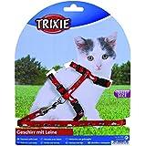 Trixie 4144 Kätzchengeschirr mit Leine, Nylon, 21–33 cm/8 mm, 1,20 m