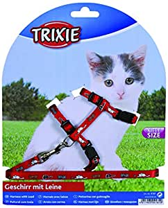 Harness and Lead Set For Kittens Sm Cats Collar (color may vary)