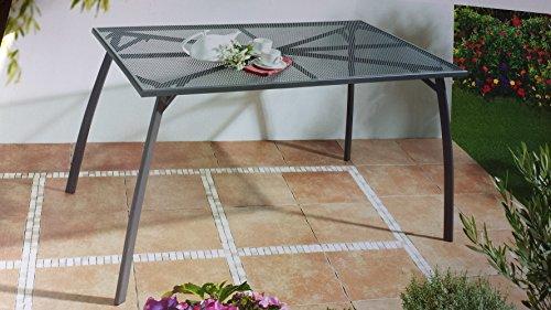 RRR Gartentisch 180 x 90, aus hochwertigem pulverbeschichtetem Streckmetall, rechteckig