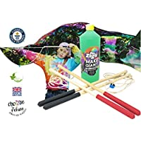 Dr Zigs Giant Bubble Kiddie Jumbo Kit XL Mix Makes 3 Litres. 2 Wands. Great for Families or Groups. Giant Wand Tri-String and Mini-Multi Garland Wand. Ideal for 3 Years + Winter Outdoor Garden Play
