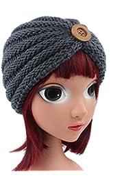 Leisial Cappello di Lavoro a Maglia per Bambini di Fibbia per Bambini  Esotici Grigio 62ba8f9391a3