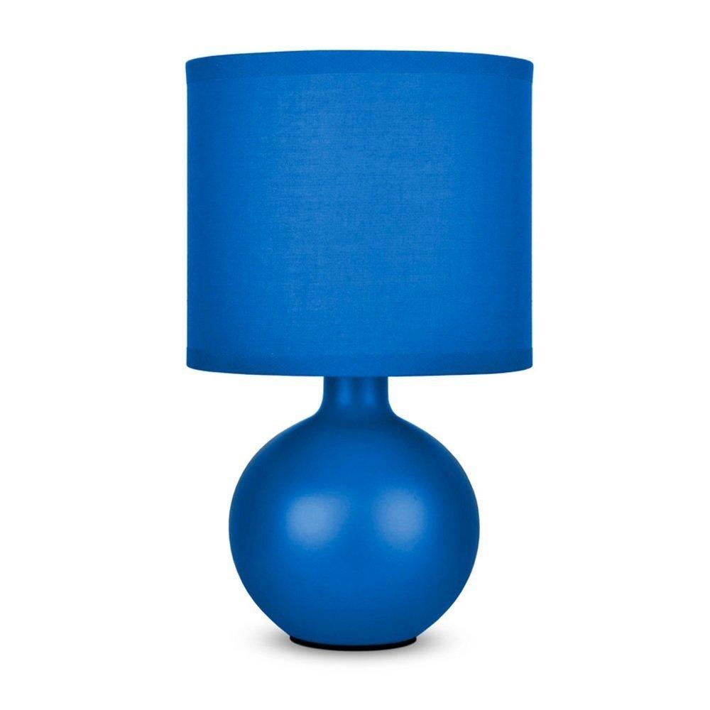 MiniSun - Modern Black Ceramic Round Table Lamp With Black Fabric ...