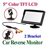 BW 5 Inch TFT-LCD Security Digital Car Monitor Car View Monitor with Two