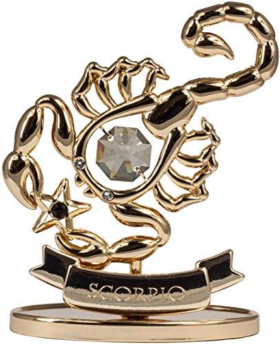 Sternzeichen Skorpion Figur mit Kristallen goldfarben MADE WITH SWAROVSKI ELEMENTS