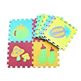 10 Puzzleteile Puzzle Matte Lernspielzeug Tierpuzzles Eva-Matten Sicherheit Umweltschutz Obst- und Gemüsematten Verkehrsblumen Grasmatten