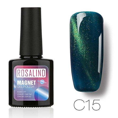 Farbe Nagellack, Die Sie (LCLrute Nagellack Neu ROSALIND 10 ML Katzenaugen-Gel-Nagellack-Nagel-Kunst-Gelpoliermittel UV-LED-Gel-Polnisch (E))