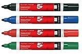 5 Etoiles Marqueur pour Tableau de conférence Stylo Water-based Line largeur 3.0mm Assorti (Lot de 4)