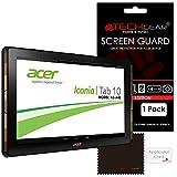 Displayschutzfolie für Acer Iconia Tab 10, Modell A3-A40 von Techgear®, transparente Folie, LCD-Schutzfolie mit Reinigungstuch und Applikator zum einfachen Anbringen