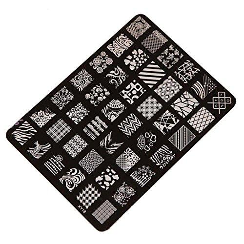 Susenstone Estamper Impression Plaque Image Timbres Plaque Manucure Nail Art Déco des Ongles