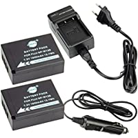 DSTE 2-pacco Ricambio Batteria + DC129E Caricabatteria per Fujifilm NP-W126FinePix